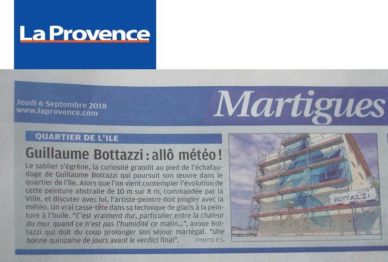 Guillaume Bottazzi, journal La Provence, 6 septembre 2018