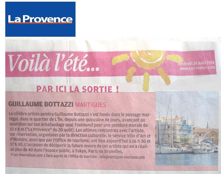 Guillaume Bottazzi, journal La Provence, 24 août 2018