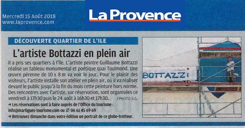 Guillaume Bottazzi, journal La Provence, 15 août 2018