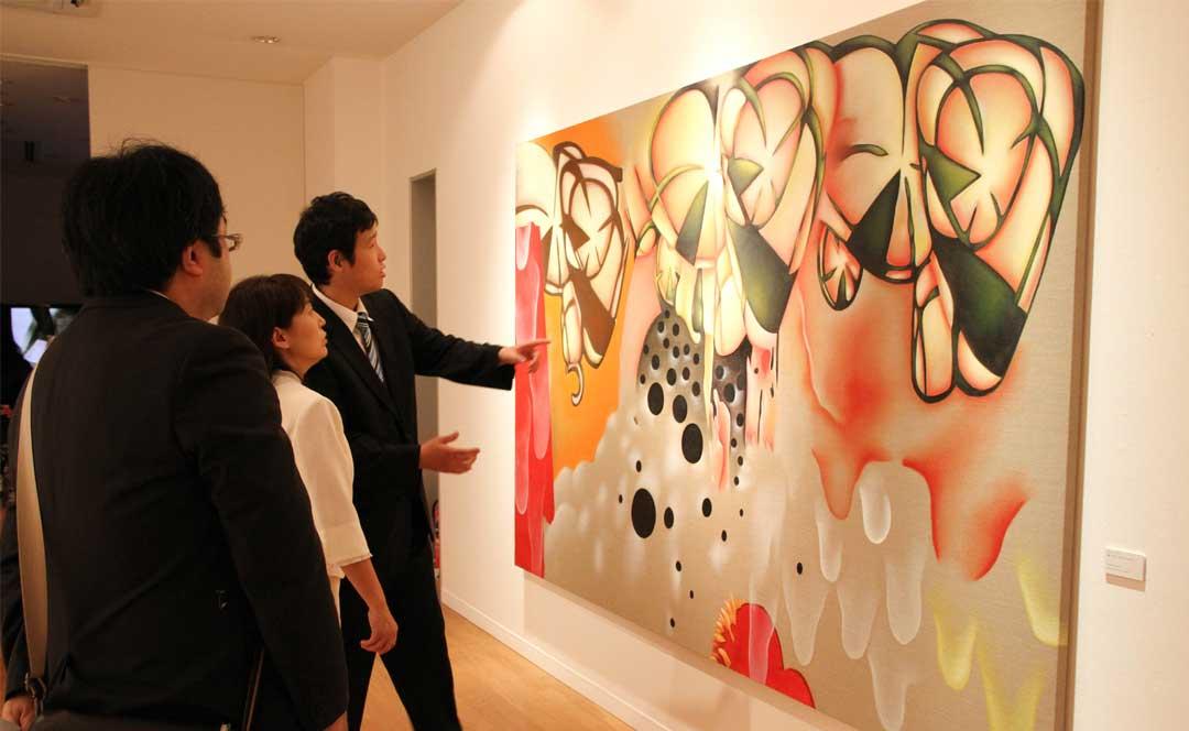 Guillaume Bottazzi's exhibition at Miyanomori Museum iin Japan in 2011