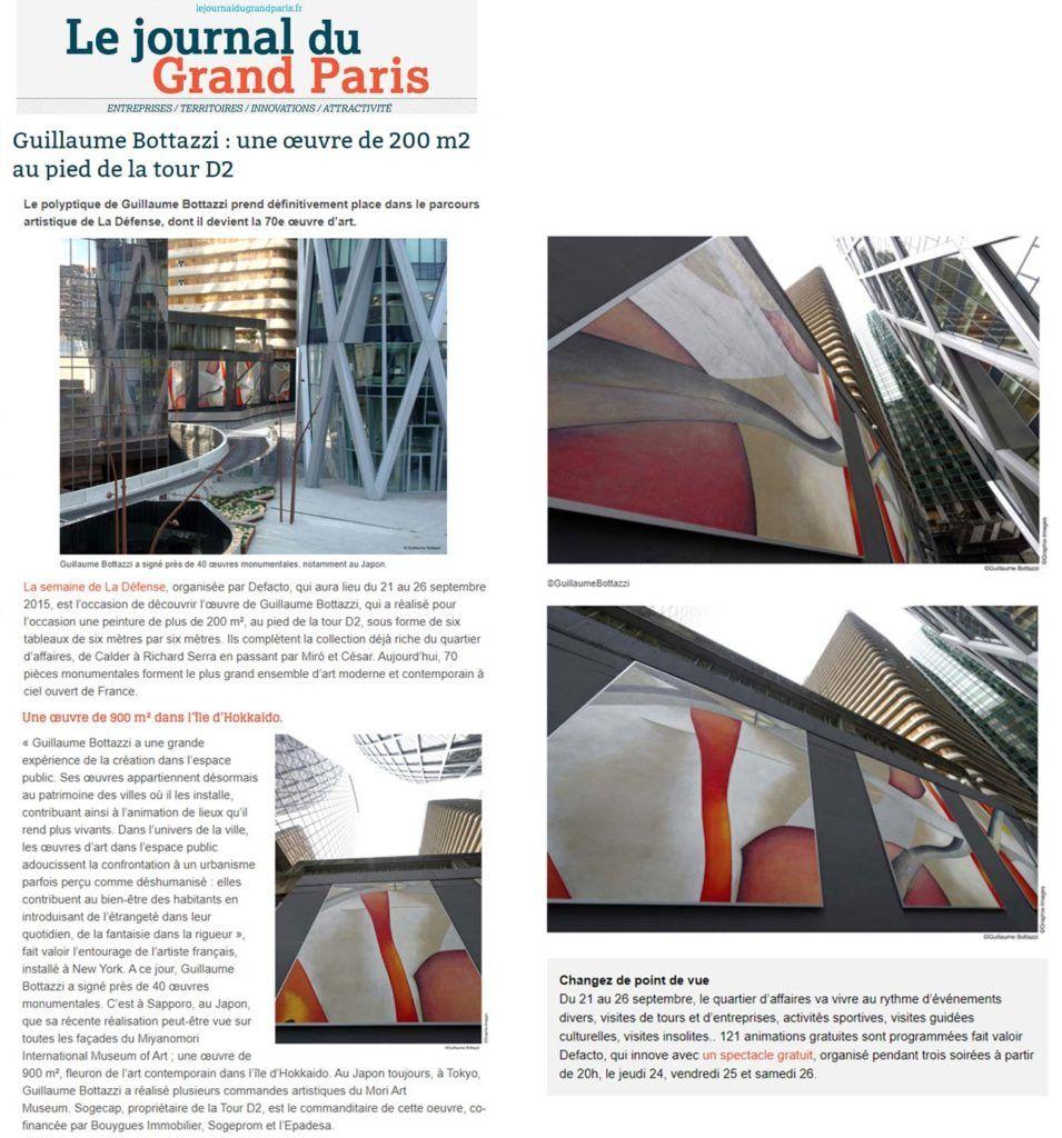 Art public Paris, article au sujet de Guillaume Bottazzi sur Le Journal du Grand Paris