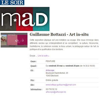 Guillaume Bottazzi, Mad Le Soir, 2016