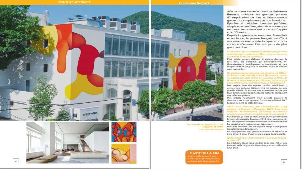Article au sujet de l'artiste Guillaume Bottazzi sur le magazine Vibration Clandestine