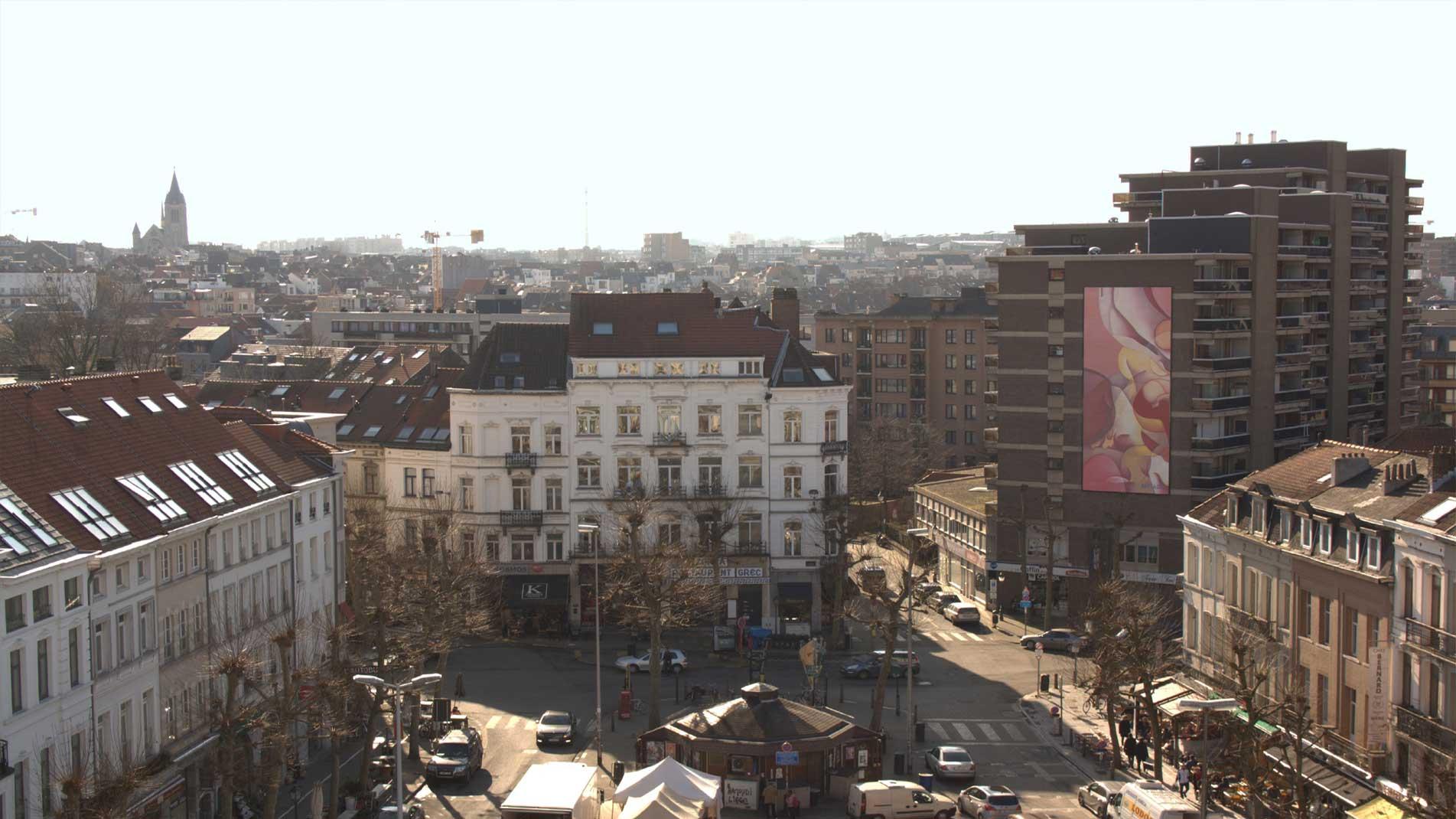 Art public réalisé à Bruxelles par l'artiste Guillaume Bottazzi