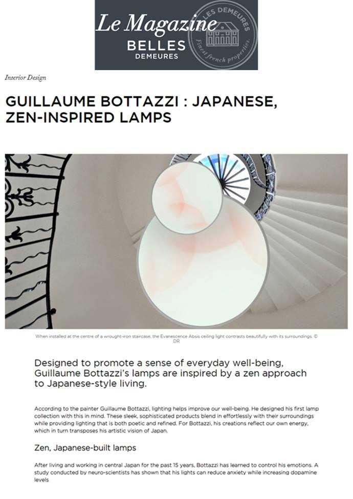 Bottazzi - Magazine Belles Demeures - 2019