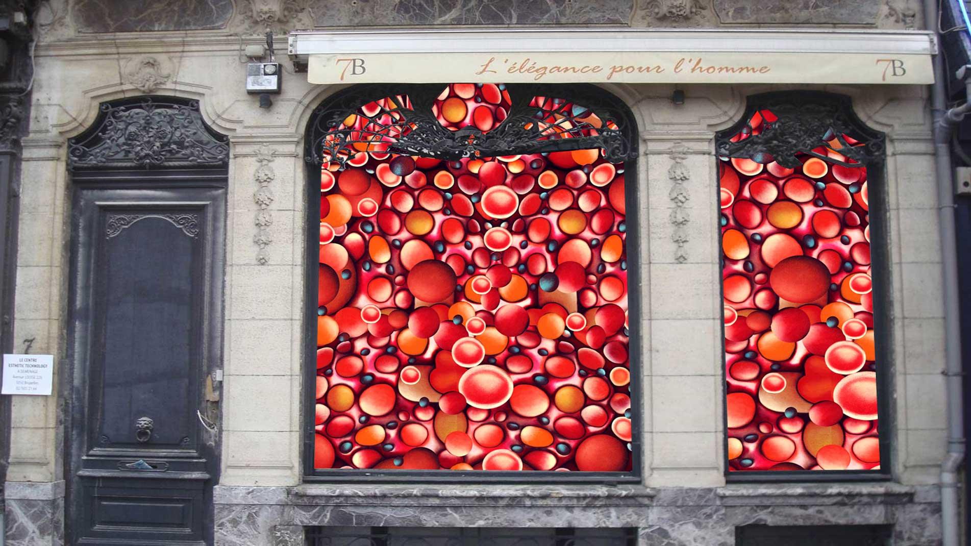 Guillaume Bottazzi, public art in Brussels, installation in situ