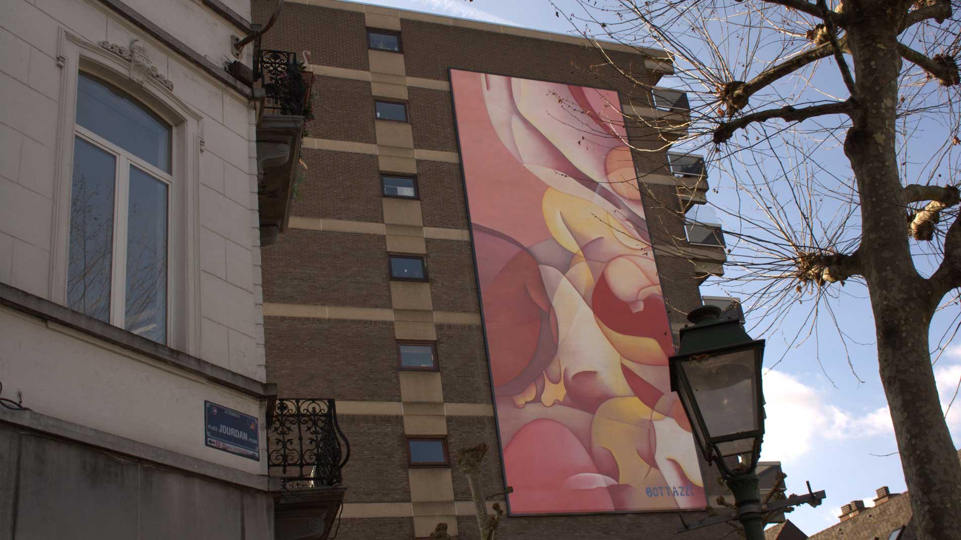 Art public : Peinture monumentale de Guillaume Bottazzi à Bruxelles