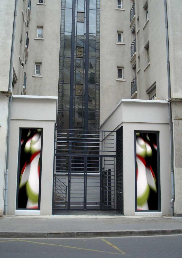 Guillaume Bottazzi, public art on patrimoine heritage