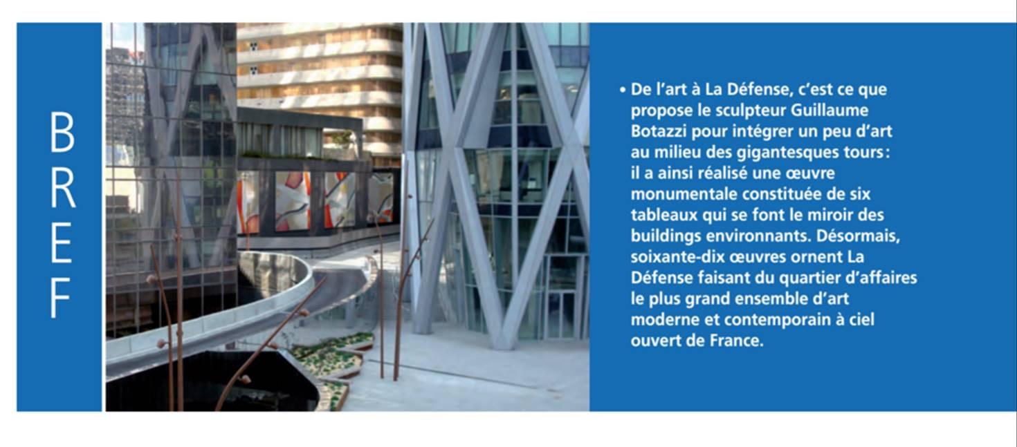 C Maison Et Jardin Magazine guillaume bottazzi - public art - paris la defense