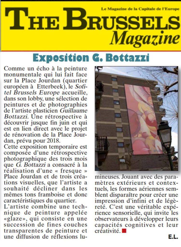 Article au sujet de l'oeuvre monumentale dans l'espace public de Guillaume Bottazzi sur The Brussels Magazine