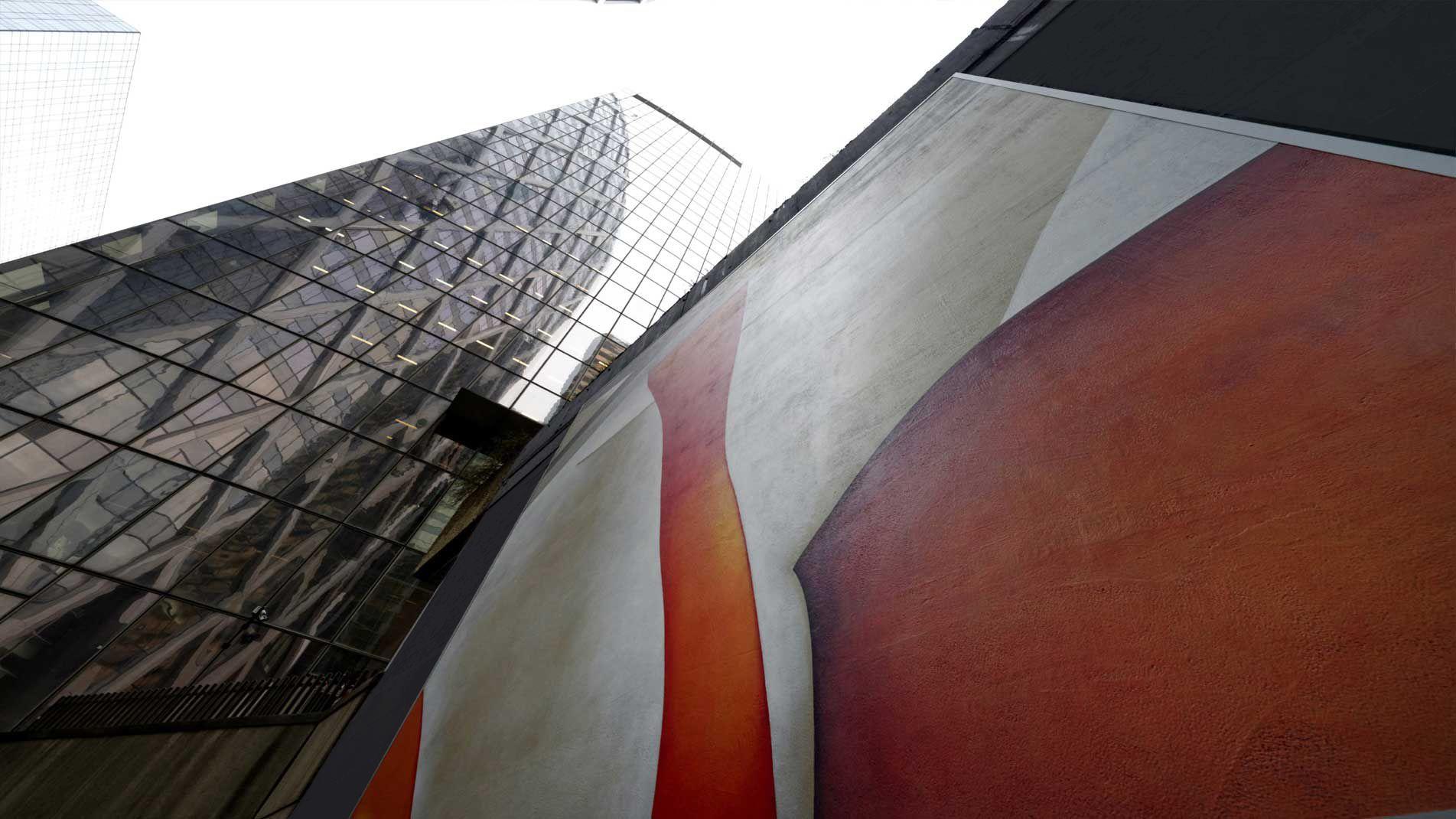 Guillaume Bottazzi, public art à Paris La Défense, 6 tableaux de 6 m par 6 m