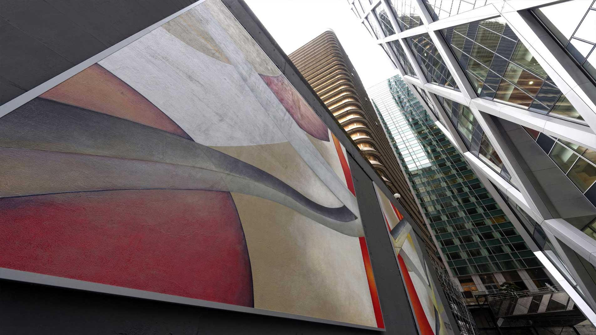 Guillaume Bottazzi, art public, 6 tableaux monumentaux à Paris La Defense