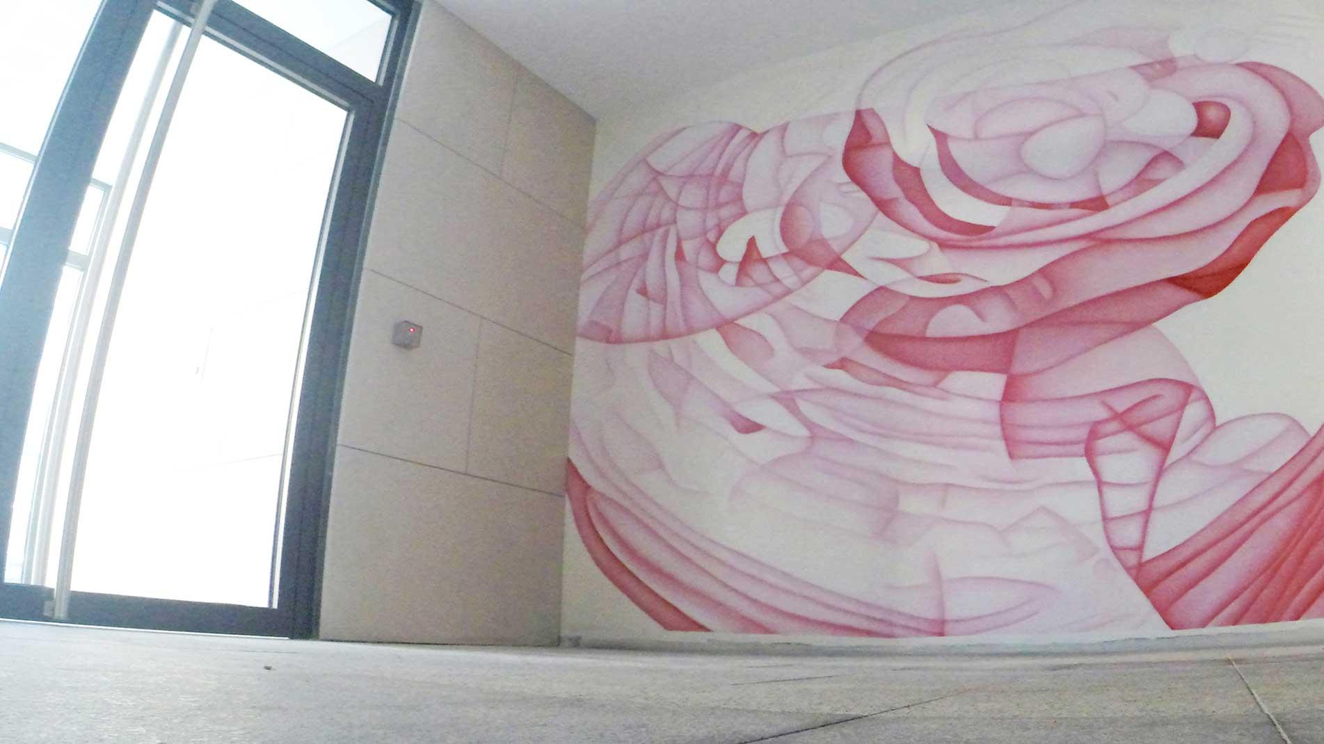 Guillaume Bottazzi, Art public intérieur, peinture murale, Marseille France