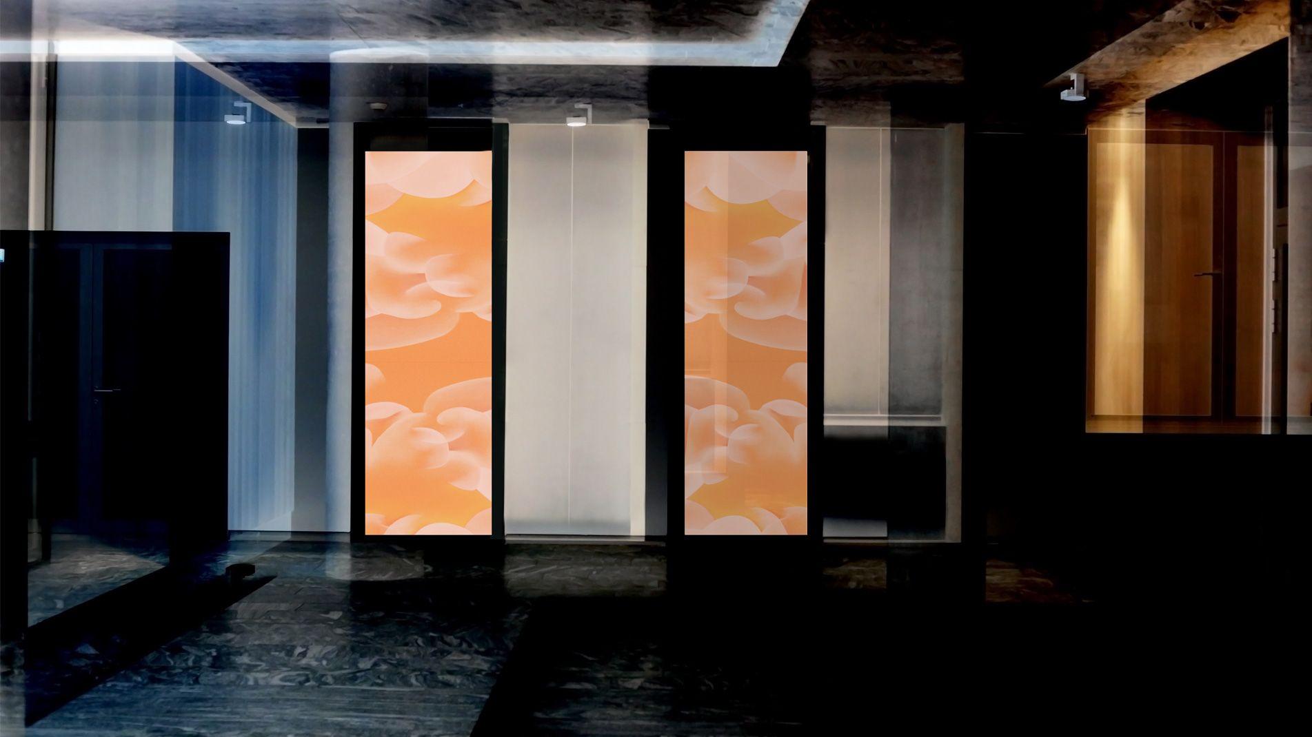 Guillaume Bottazzi, émaux sur verre, art in situ, Tokyo