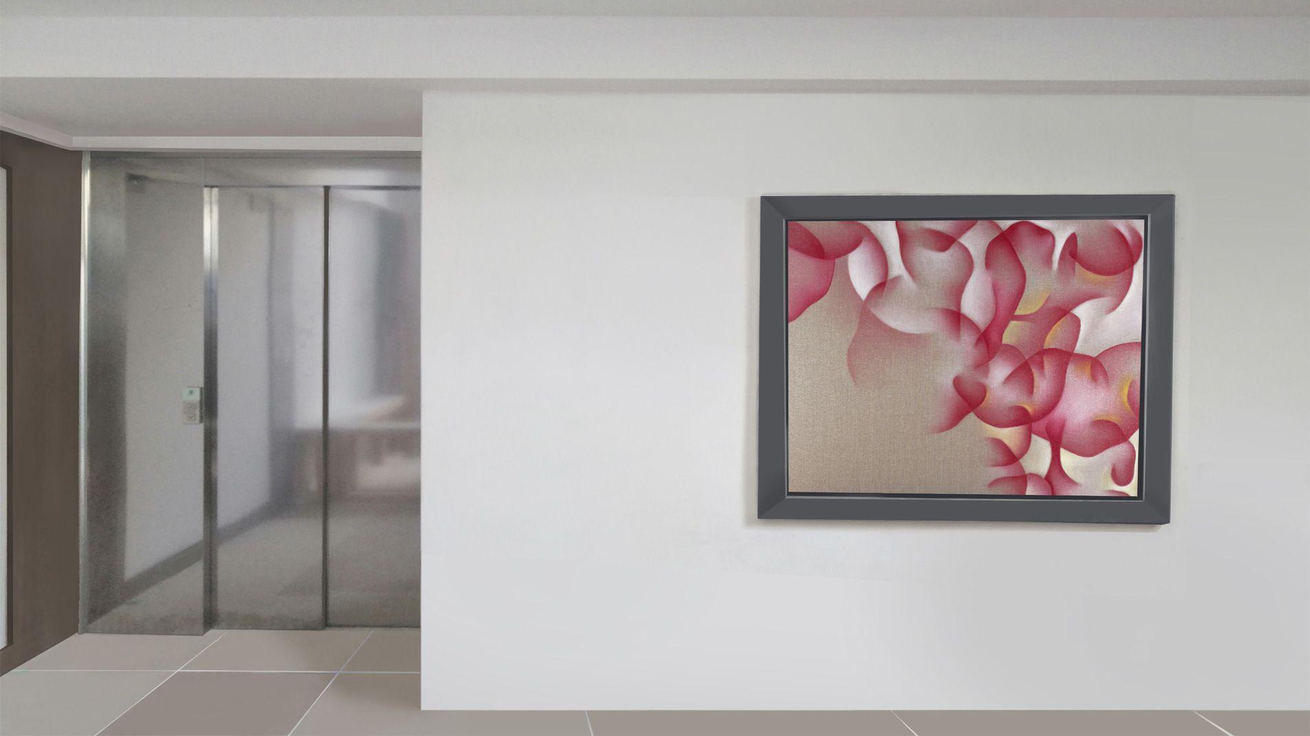 Guillaume Bottazzi, art public intérieur, peinture dans un hall d'entrée, Marseille