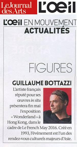 Guillaume Bottazzi sur le magazine d'art Français L'Oeil en 2016