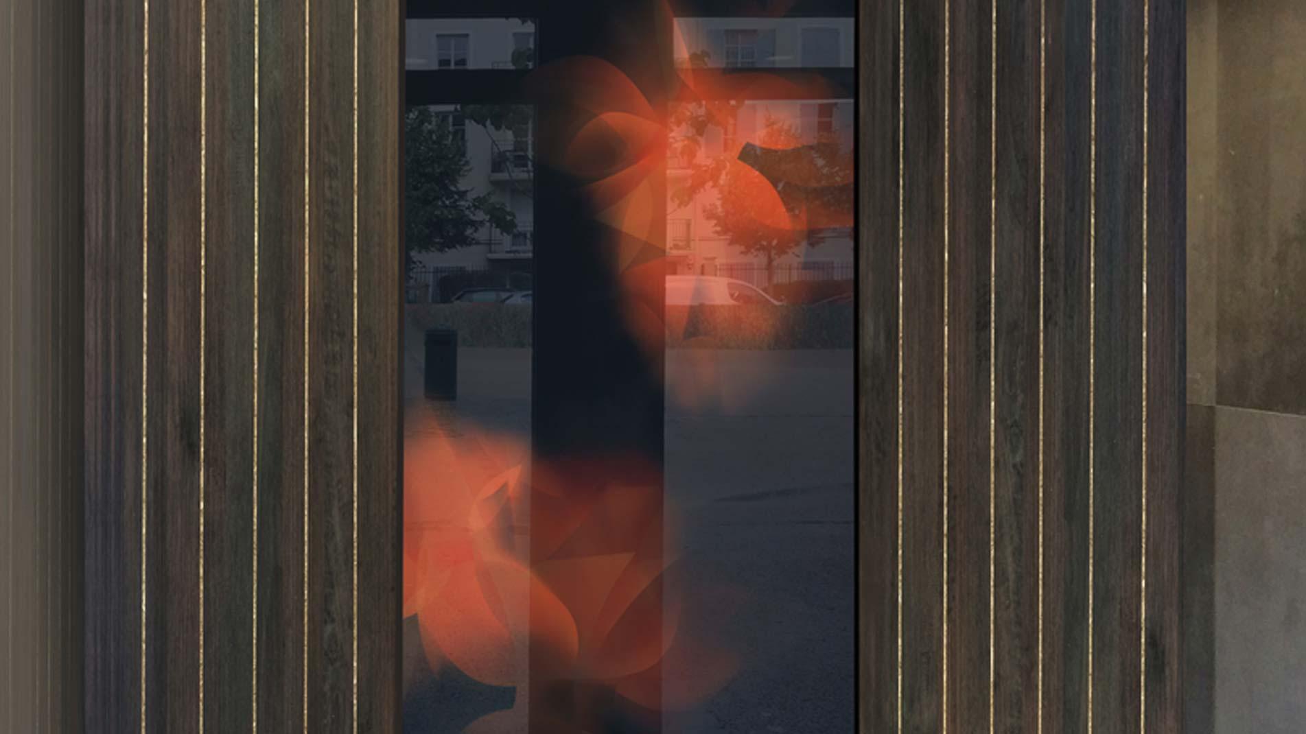 Guillaume Bottazzi, art in public space. Enamels created in situ in Paris district in 2020