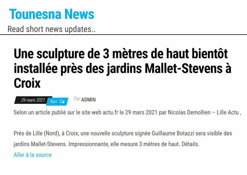 Guillaume Bottazzi, Tounesna News, avril 2021