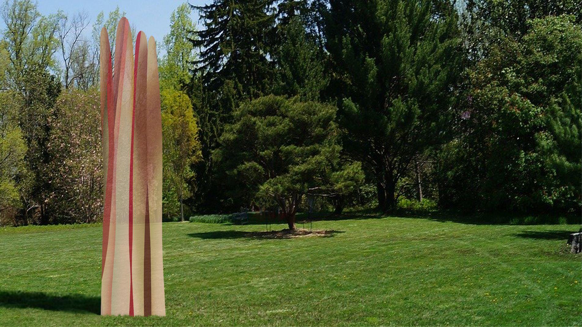 Guillaume Bottazzi, sculpture en verre. Art dans l'espace public, émaux