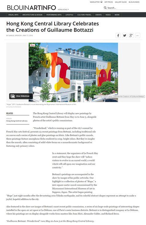 Blouin art info about Guillaume Bottazzi's solo show in Hong Kong