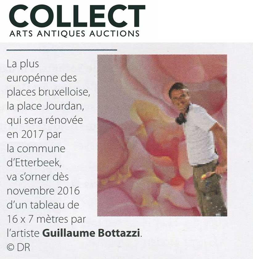 Article au sujet de l'artiste Guillaume Bottazzi sur le magazine d'art Belge Collect, Arts Antiques Auctions
