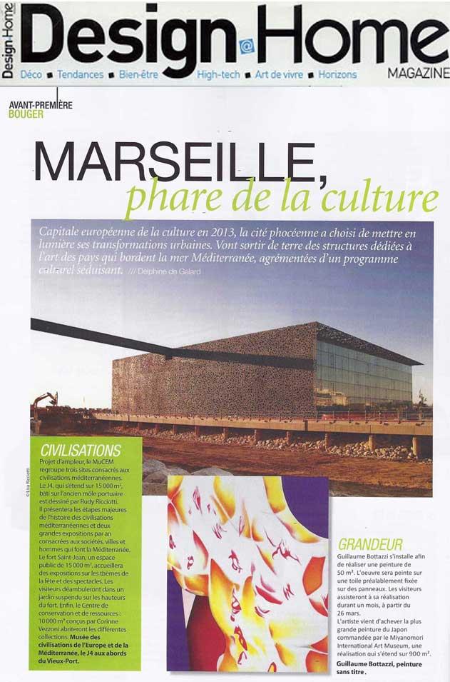 Article au sujet de l'artiste Guillaume Bottazzi sur le magazine Design@Home