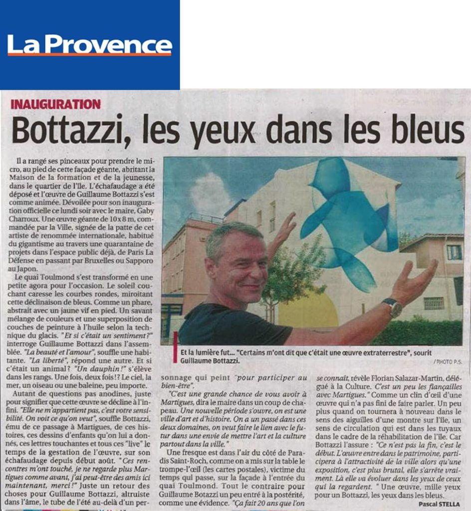 Guillaume Bottazzi, journal La Provence 2018