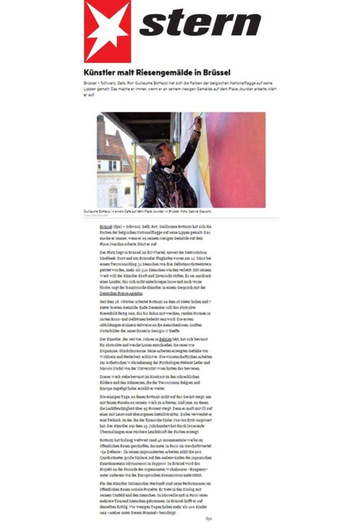 Stern Magazine about the artist Guillaume Bottazzi