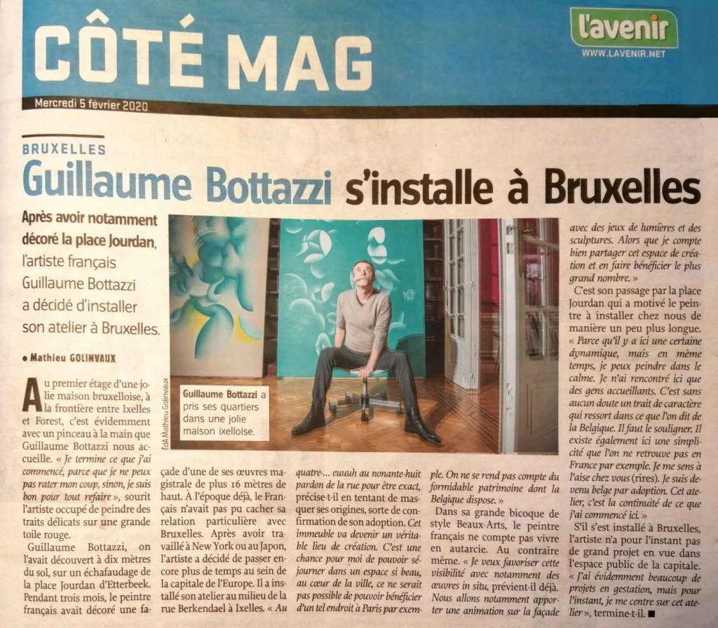 Guillaume Bottazzi, journal l'Avenir du 6 février 2020