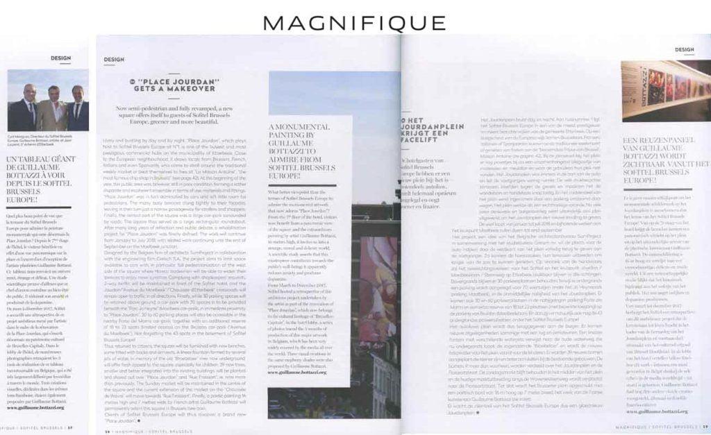 Article au sujet de l'artiste Guillaume Bottazzi sur le magazine du Sofitel Magnifique