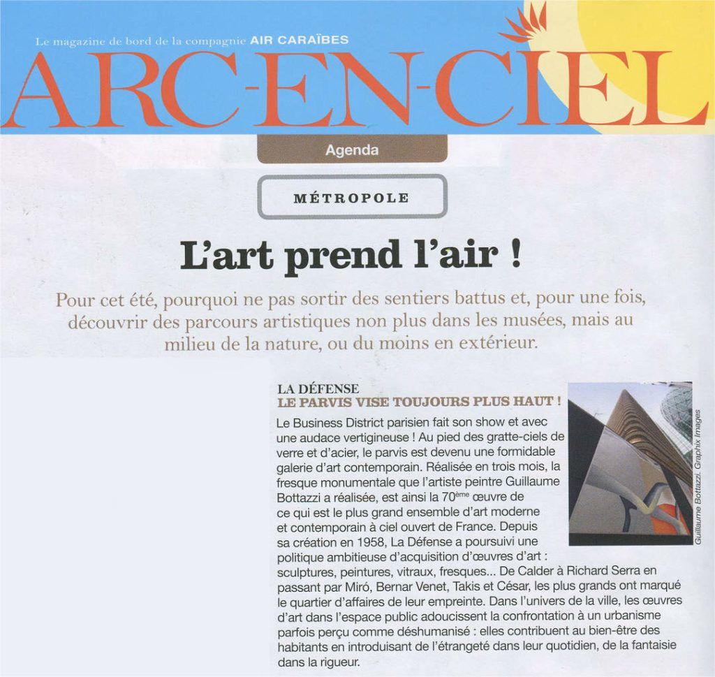 Guillaume Bottazzi, Arc en Ciel, inflight magazine