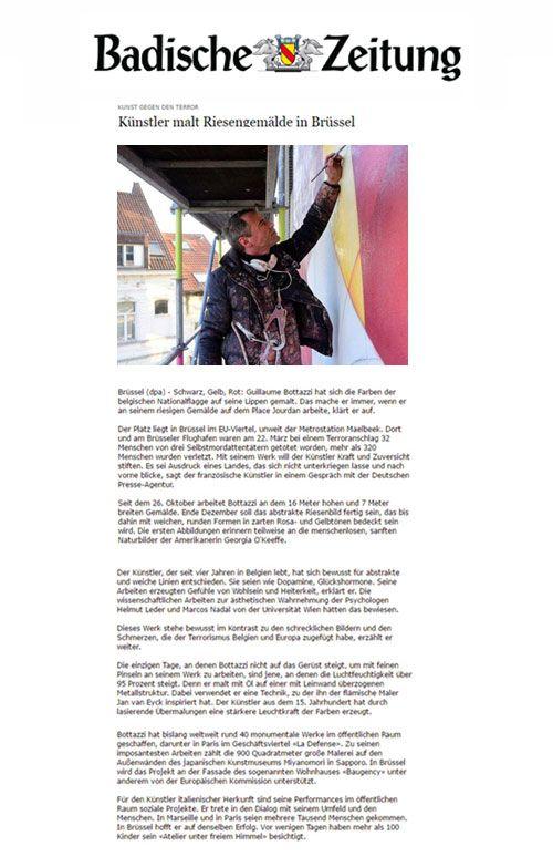 Badische Zeitung, article about Guillaume Bottazzi