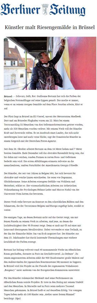 Guillaume Bottazzi, article on Berliner Zeitung newspaper