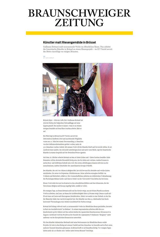 Guillaume Bottazzi, article on Braunschweiger Zeitung