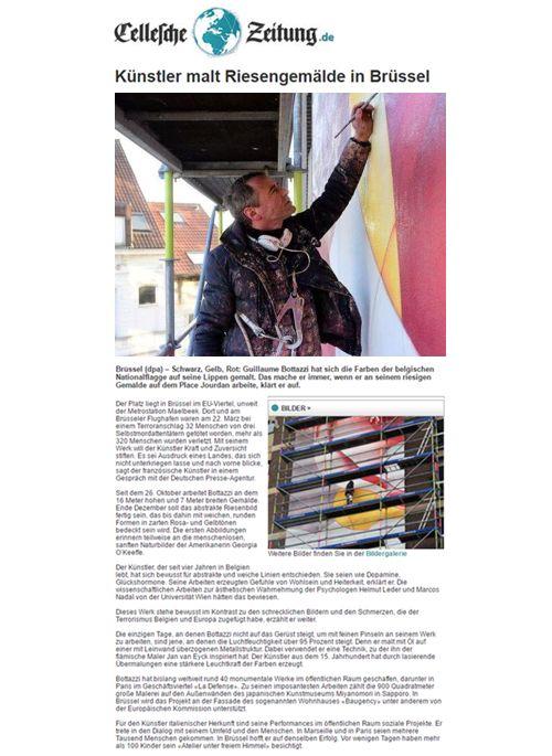 Article about the artist Guillaume Bottazzi on the German newspaper Cellesche Zeitung