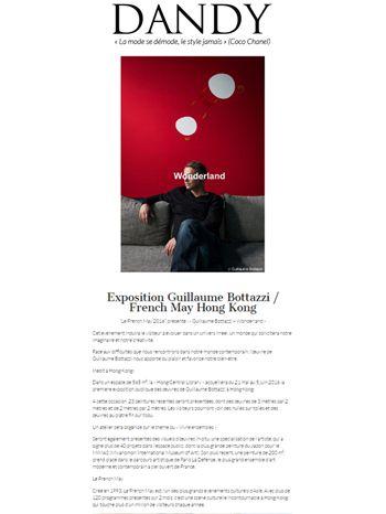 Article au sujet de l'artiste Guillaume Bottazzi sur Dandy magazine