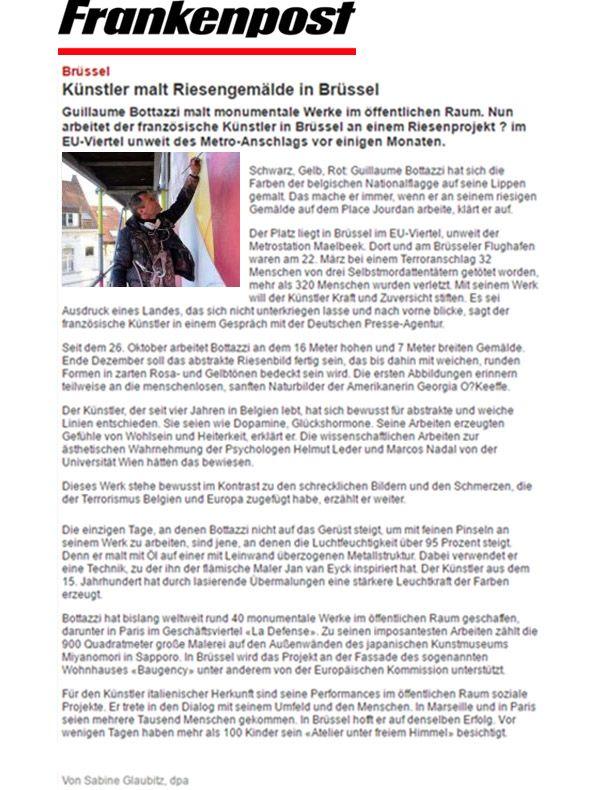 Frankenpost, article about Guillaume Bottazzi