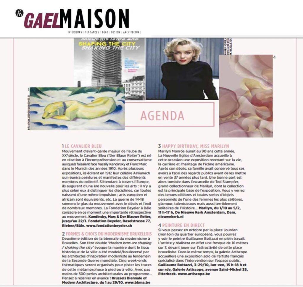 Guillaume Bottazzi, article sur le magazine Gael Maison