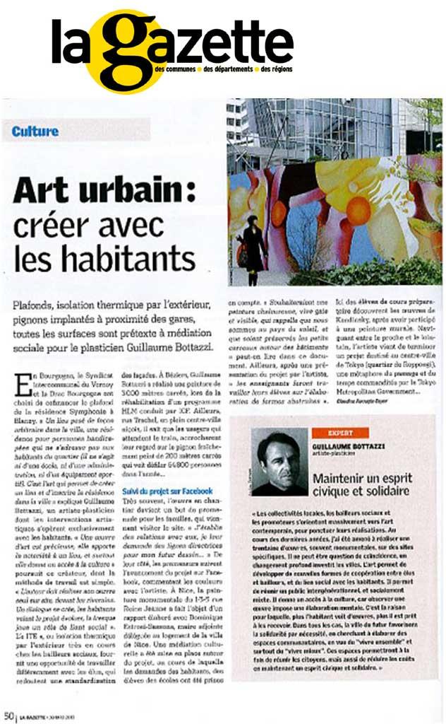 Guillaume Bottazzi, La Gazette des Communes