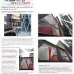 Art public : Journal du Grand Paris, article au sujet de l'artiste Guillaume Bottazzi et de son oeuvre monumentale à Paris La Défense