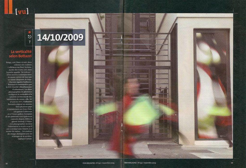 Guillaume Bottazzi, Journal Viva, art public sur les gratte-ciels de Villeurbanne, 2009