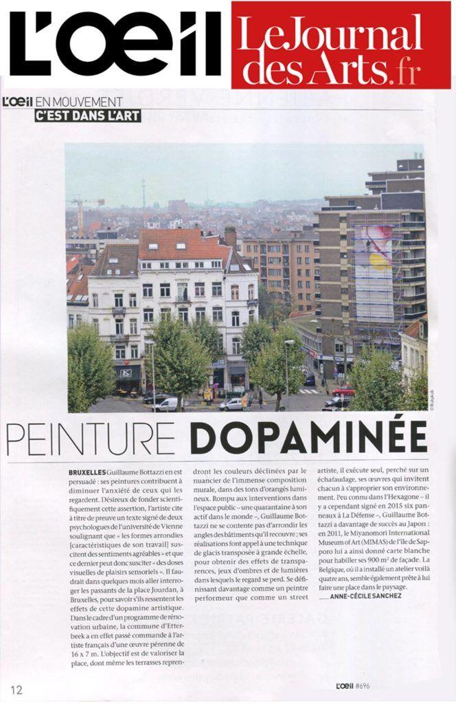 Article de l'artiste Guillaume Bottazzi sur le magazine d'art français, L'Oeil