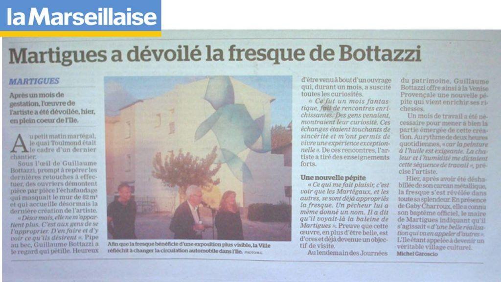 Guillaume Bottazzi, journal La Marseillaise 2018