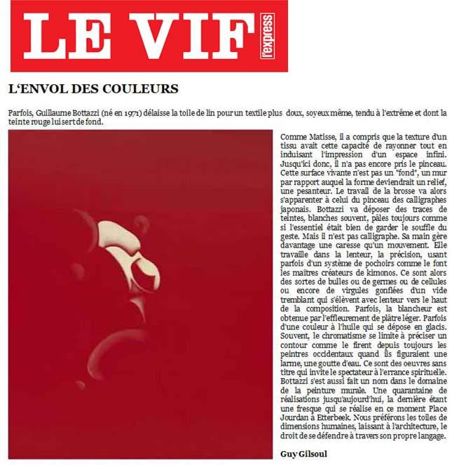 Guillaume Bottazzi / L'envol des Couleurs - Le Vif L'Express
