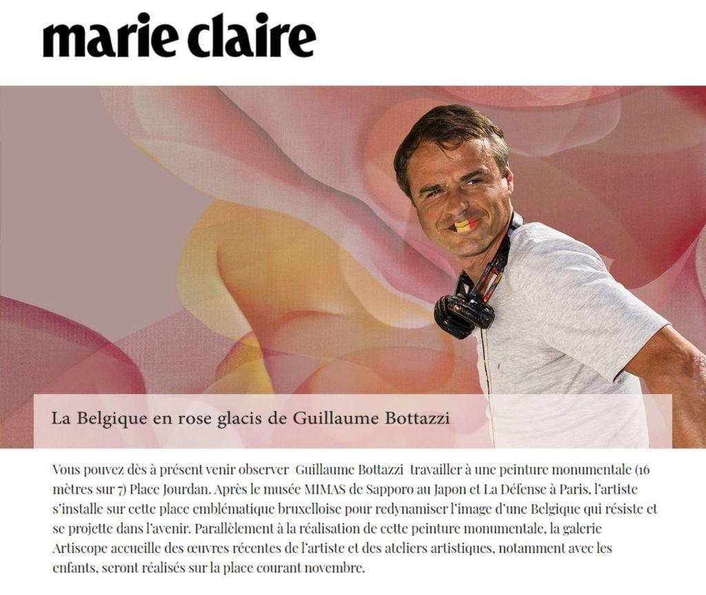 Guillaume Bottazzi, Marie Claire magazine