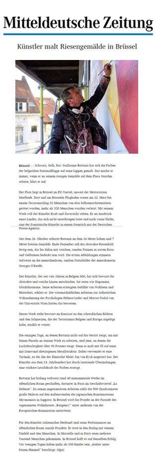 Mitteldeutsche Zeitung about Guillaume Bottazzi