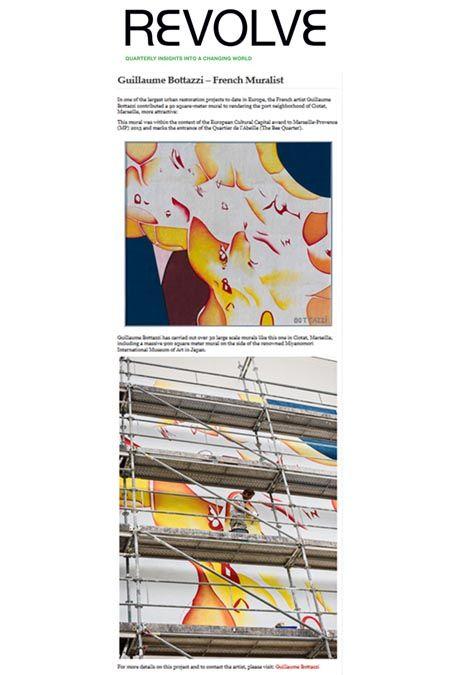 Art public, article au sujet de Guillaume Bottazzi on the belgium magazine Revolve