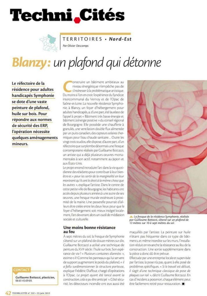 Article au sujet de Guillaume Bottazzi sur le magazine Techni.Cités