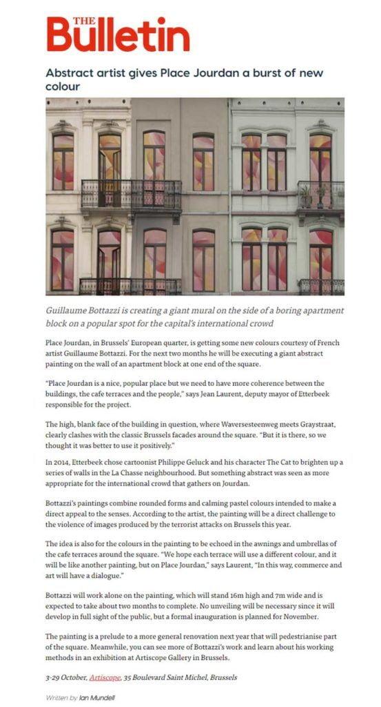 Public art: article about The Bulletin, the Belgium English magazine