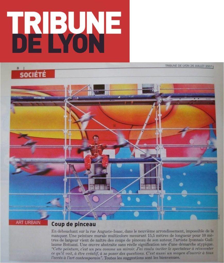 Art public : Article au sujet de l'artiste Guillaume Bottazzi sur La Tribune de Lyon